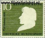 Bundesrepublik BRD 229#  1956 Heine, Heinrich  Postfris