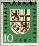 Bundesrepublik BRD 249#  1957 Saarland  Postfris