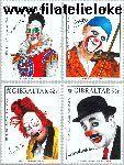 Gibraltar gib 1002#1005  2002 C.E.P.T.- Circus  Postfris