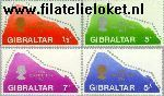 Gibraltar gib 225#228  1969 Nieuwe grondwet  Postfris