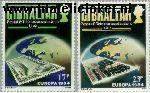 Gibraltar gib 475#476  1984 C.E.P.T.- Brug  Postfris