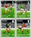 Gibraltar gib 814#817  1998 WK Voetbal  Postfris