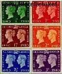 Groot-Brittannië grb 215#220  1940 Postzegeljubileum  Postfris