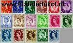 Groot-Brittannië grb 257#273  1952 Koningin Elizabeth- Type Wilding  Postfris
