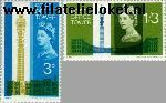 Groot-Brittannië grb 402#403  1965 Posttoren  Postfris