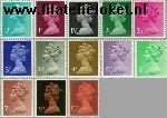 Groot-Brittannië grb 561#573  1971 Koningin Elizabeth- Machin Decimaal  Postfris