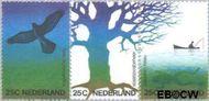 Nederland NL 1043#1045  1974 Natuur en milieu  cent  Gestempeld