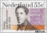 Nederland NL 1090#  1976 Prinsterer, Groen van  cent  Gestempeld