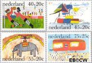 Nederland NL 1103#1106  1976 Kindertekeningen  cent  Gestempeld
