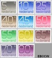 Nederland NL 1108#1118  1976 Cijfer type 'Crouwel'  cent  Postfris