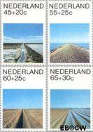 Nederland NL 1216#1219  1981 Landschappen  cent  Gestempeld