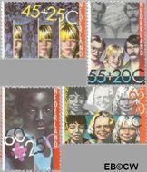 Nederland NL 1232#1235  1981 Integratie en preventie  cent  Gestempeld