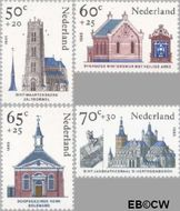 Nederland NL 1324#1327  1985 Kerken  cent  Gestempeld