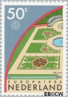 Nederland NL 1353  1986 C.E.P.T.- Natuur en milieu 50 cent  Gestempeld
