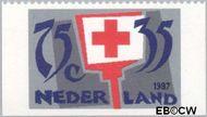 Nederland NL 1384c  1987 Rode Kruis- Activiteiten 75+35 cent  Gestempeld
