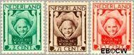 Nederland NL 141#143  1924 Kinderkopje tussen engelen   cent  Gestempeld