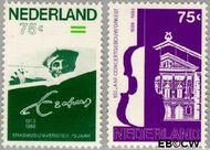 Nederland NL 1412#1413  1988 Concertgebouw Orkest  cent  Gestempeld