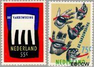 Nederland NL 1421#1422  1989 Vakbeweging  cent  Gestempeld