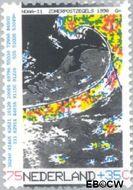 Nederland NL 1446  1990 Het weer 75+35 cent  Gestempeld
