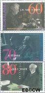 Nederland NL 1478#1480  1991 Nobelprijswinnaars  cent  Gestempeld