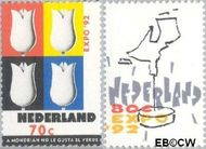 Nederland NL 1518#1519  1992 Wereldtentoonstelling- Sevilla  cent  Gestempeld