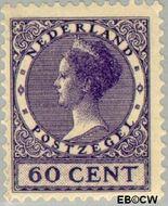 Nederland NL 162  1925 Koningin Wilhelmina- Type 'Veth' 60 cent  Gestempeld