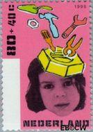 Nederland NL 1700  1996 Kind en boeken 80+40 cent  Gestempeld