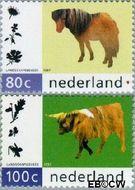 Nederland NL 1711#1712  1997 Natuurlijk Landschapsbeheer  cent  Gestempeld
