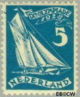 Nederland NL 215  1928 Olympische Spelen- Amsterdam 5+1 cent  Gestempeld
