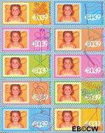 Nederland NL 2172#2181  2003 Persoonlijke postzegels- feest  cent  Gestempeld