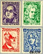 Nederland NL 220#223  1928 Bekende personen  cent  Gestempeld