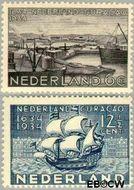 Nederland NL 267#268  1934 Nederlands bewind Curaçao   cent  Gestempeld