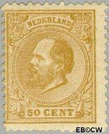 Nederland NL 27  1872 Koning Willem III- 5e emissie 50 cent  Gestempeld