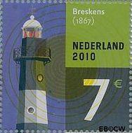 Nederland NL 2717a#  2010 Vuurtoren  cent  Gestempeld