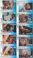Nederland NL 2823#2832  2011 UNICEF 65 jaar  cent  Gestempeld