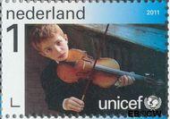 Nederland NL 2828  2011 UNICEF 65 jaar 1 cent  Gestempeld