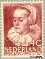 Nederland NL 307  1938 Bekende personen 4+2 cent  Gestempeld