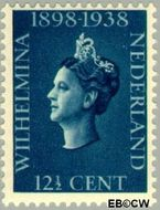 Nederland NL 312  1938 Koningin Wilhelmina- Regeringsjubileum 12½ cent  Postfris