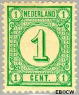 Nederland NL 31a  1894 Drukwerkzegels- cijfer 1 cent  Gestempeld
