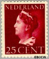 Nederland NL 341  1940 Wilhelmina- Type 'Konijnenburg' 25 cent  Gestempeld