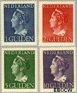 Nederland NL 346#349  1946 Wilhelmina- Type 'Konijnenburg'   cent  Gestempeld