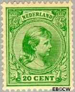 Nederland NL 40  1891 Koningin Wilhelmina- 'Hangend haar' 20 cent  Gestempeld