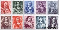 Nederland NL 412#421  1943 Zeehelden   cent  Postfris
