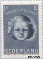 Nederland NL 444  1945 Kinderkopje 1½+2½ cent  Gestempeld
