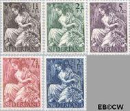 Nederland NL 449#453  1946 Nationale-hulpzegel   cent  Gestempeld