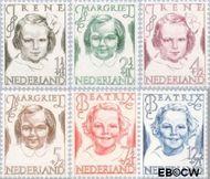 Nederland NL 454#459  1946 Prinsessen   cent  Postfris