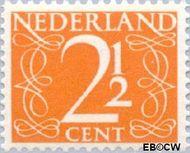 Nederland NL 462  1947 Cijfer type 'van Krimpen' 2½ cent  Gestempeld