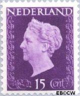 Nederland NL 480  1947 Koningin Wilhelmina- Type 'Hartz' 15 cent  Gestempeld