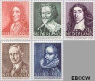 Nederland NL 490#494  1947 Bekende personen   cent  Postfris