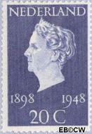 Nederland NL 505  1948 Koningin Wilhelmina- Regeringsjubileum 20 cent  Gestempeld